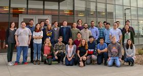 The Persson group outside our building at LBNL.