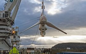 The 1.5 megawatt AR1500 turbine is situated in the Pentland Firth.