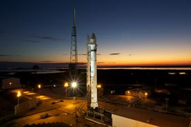 Falcon 9 is a two stage, liquid oxygen and rocket grade kerosene (RP-1) powered launch vehicle.