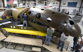 Construction of SpaceShipTwo, a carbon composite spacecraft.
