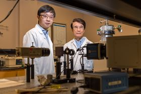 Together with colleagues, Liangzi Deng (left) and Paul Chu (right) at the University of Houston have reported the discovery of a new material able to maintain its skyrmion properties at room temperature when exposed to high pressures.