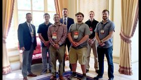 From left to right: Instructor Stephen Feldbauer, students Logan Shirey, Christopher Stewart, Kyle Bear, Andrew Bigley, Kurt Diehl and Nicholas Carrier, former student and currently a research technologist. Image courtesy Penn State.