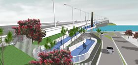 How the SkyPath would look at its landing in Northcote.