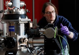 Professor Jonathan Coleman developing the graphite flakes