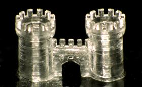 A threedimensional structure of a castle gate printed in fused silica glass. Credit: NeptunLab/KIT.