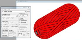 A Cadfil screen shot provides detailed winding information, including a 3D mandrel animation