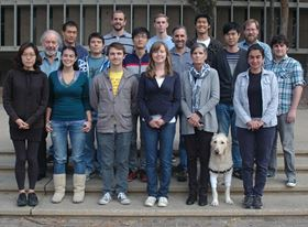 Professor Maple's group (Photo courtesy of UCSD).