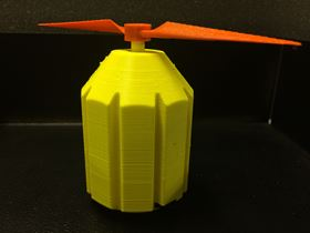 3D printed motor produced using fused deposition modeling via stop-n-go manufacturing. Courtesy of the Keck Center.