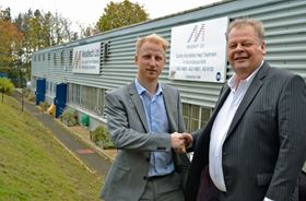Luke Collins of Wallwork Group and Dr Forster of Metaltech Ltd.