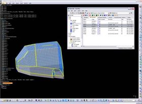 An example of an auxiliary power unit plenum being designed with FiberSIM software during a CAD modelling session.