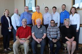 Front row: PCI officers, Chris Merritt, John Sudges, Suresh Patel and Sue Ivancic.  Back row: Trena Benson, PCI executive director, Tom Whalen, Ron Cudzilo, John Cole, Chris Beninati, Paul West, Rick Gehman, and Shelley Verdun.