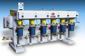 The system includes usage of up to six grinding tanks.