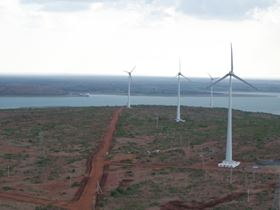 A wind farm of CLP company in Saundatti in the southern state of Karnataka.