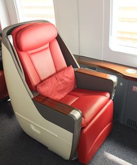 Three Crestapol 1212 RTM composite parts were used by Cedar Composites, Shanghai to construct the VIP chairs installed in high speed trains now operating in China.