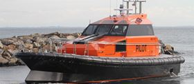 The new pilot boat built using DIAM core materials.