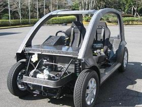 Teijin will use its CFRP concept car to demonstrate its new technologies to car makers and suppliers.