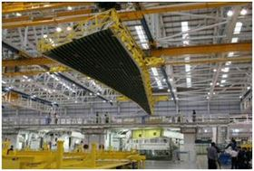 Airbus has begun assembly of the first A350 XWB's composite wings.