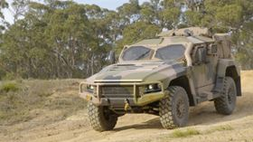 The new Hawkei military vehicle.