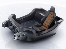 The MonoCell tub for the McLaren MP4-12C supercar is moulded as a single piece and weighs less than 80 kg (176 lbs).