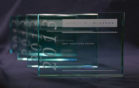 Frost & Sullivan Best Practices Awards recognize companies for demonstrating outstanding achievement and superior performance in areas such as leadership, technological innovation, customer service, and strategic product development. Photo: Frost & Sullivan