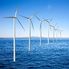 Offshore turbines need to be taller and heavier - meaning more massive foundations - which is where composites may provide a solution. (Photo courtesy of Shutterstock .com)