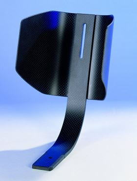 This industrial part made with carbon fibre from SGL Group is stronger and lighter than metal.