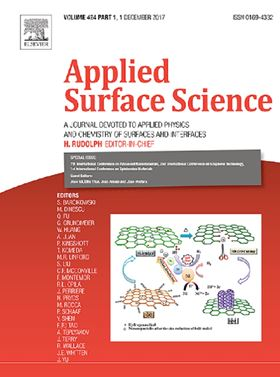 The 2016 Frans Habraken Best Paper Award, sponsored by the journal of Applied Surface Science.