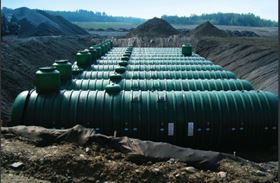 ZCL Composites manufacturers FRP storage tanks for use above and below ground.