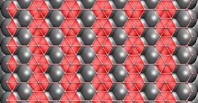 Theoretical calculations suggest that 2D boron would adjust its form depending on the substrate used in the growth process, with a copper substrate best for growing flat boron. Image: Zhuzha Zhang/Rice University.
