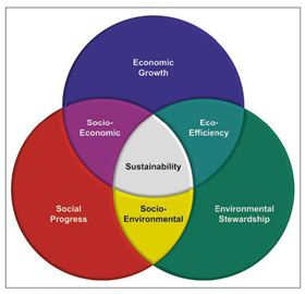 Sustainability requires balance and consideration of economic, human and environmental factors.