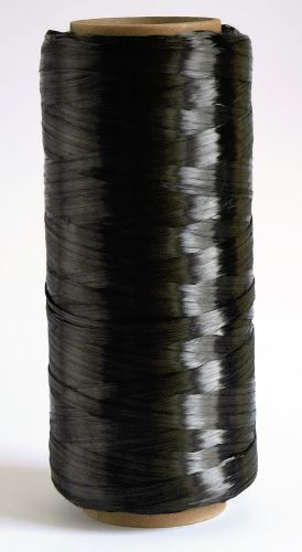 Carbon fibres from Zoltek are used to produce spools of tow for CFRP composite parts.