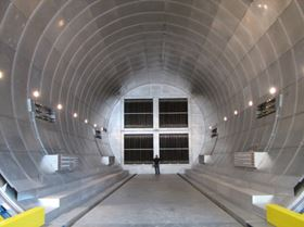 This super-sized autoclave with an inside working diameter of 30 ft (9.14 m) and length of 76 ft (23.2 m) was fabricated by ASC Process Systems for Vought Aircraft.
