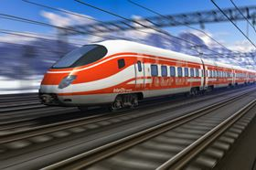 Weight saving is a higher priority in high-speed trains. (Picture used under license from Shutterstock.com © Oleksiy Mark.)