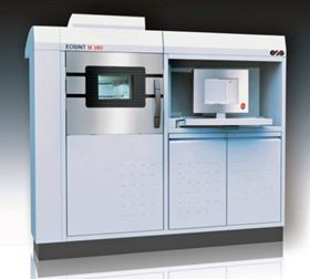 The EOSINT M 280 system for direct metal laser sintering.
