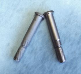 Figure 3: Titanium bolts before (left) and after (right) plating with electroless nickel.