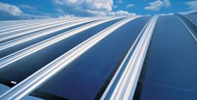 "The solar array aboard Zephyr was a flexible thin-film laminated product developed by Michigan-headquartered United Solar Ovonic LLC (Uni-Solar). The company has also used the technology in the building industry (pictured). Its proprietary technology has been developed to deposit solar cells simultaneously on to 6 rolls of stainless steel, each 1.5 mile long, using an automated line. According to the company, the flexible modules offer ""nearly complete freedom of design to architects as they can also conform to curved surfaces and hence are meeting the increasing demand for Building Integrated PV (BIPV). The modules also offer advantages in low and diffuse light conditions, due to higher absorption of light in the blue wavelength range."""