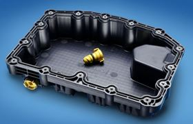 Impact modified glass reinforced PA 6 from BASF was used to injection mould this award-winning oil pan.