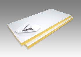 Johns Manville has developed a glass fiber insulation board with a polypropylene (PP) coated (poly-top) facing.