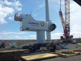 The Gamesa turbine.