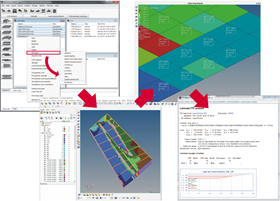 ESAComp interfaces with Altairs HyperWorks software for pre and post-processing.