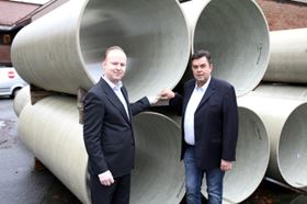 Markus Janson, sales manager (left), and Jarle Hausberg, MD of Amiantit Norway.