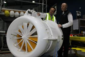 Top story: use of composite materials to manufacture the SeaUrchin tidal turbine.