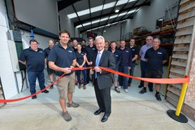Sir Alan Duncan MP, who opened the facility, and chief exec Ben Halford cutting the ribbon.