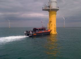 CTruk's Cardinal P composite wind farm support vessel.