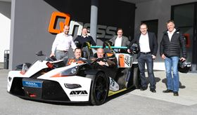 Front from left: Dr Jürgen Pankratz, CEO of Verder Scientific and Andries Verder, owner of the Verder Group. Back from left: shareholders of Qness GmbH, G Felbinger, M Steiner, H Hiegelsberger, R Gruber and R Höll.