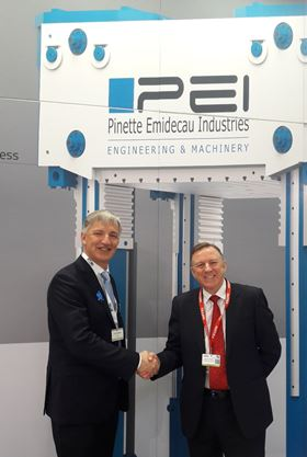 Jerome Hubert, Pinette president and CEO, with Nigel Clifford, iSpecc MD.