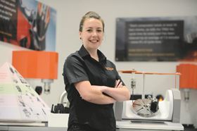 Lucy Ackland, a project manager working on Renishaw's metal 3D printing machine, has been awarded the Women's Engineering Society (WES) Prize.