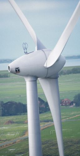 Composites are not only used to manufacture the turbine's rotor blades, they can also be used to produce the drive shafts. (Picture courtesy of Enercon.)