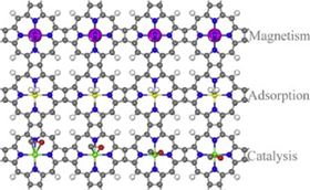 Recent advances in computational studies of organometallic sheets: Magnetism, adsorption and catalysis