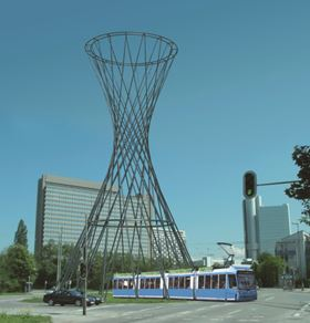 The 'Mae West' sculpture is planned for erection in November 
